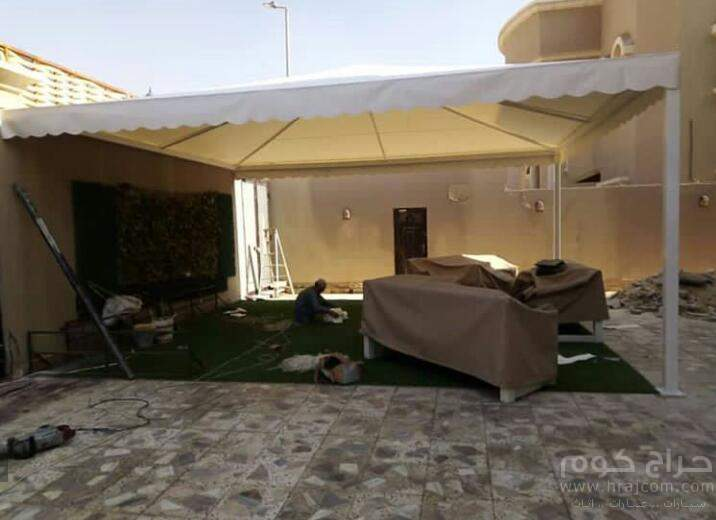 ..خصم 35% لمده محدوده. تركيب مظلات برجولات سواتر بيوت شعر قرميد في الرياض